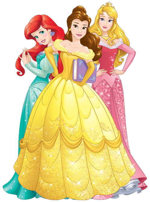 banner transparent download Three Disney Princesses transparent PNG