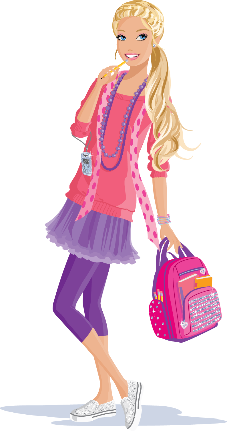 clip art royalty free library Pictures drawing art gallery. Barbie clipart ipad.