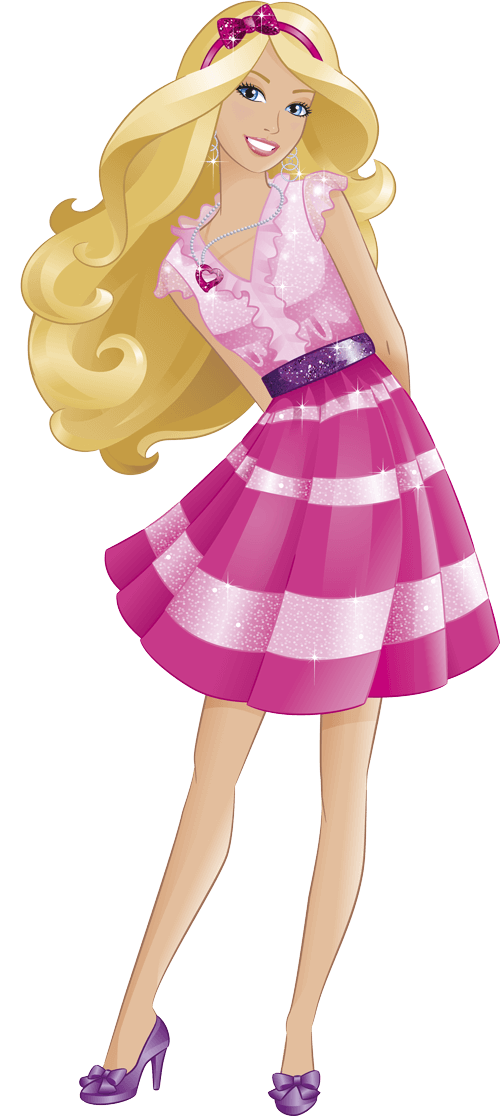 picture transparent library Png google search pinterest. Barbie clipart pink.