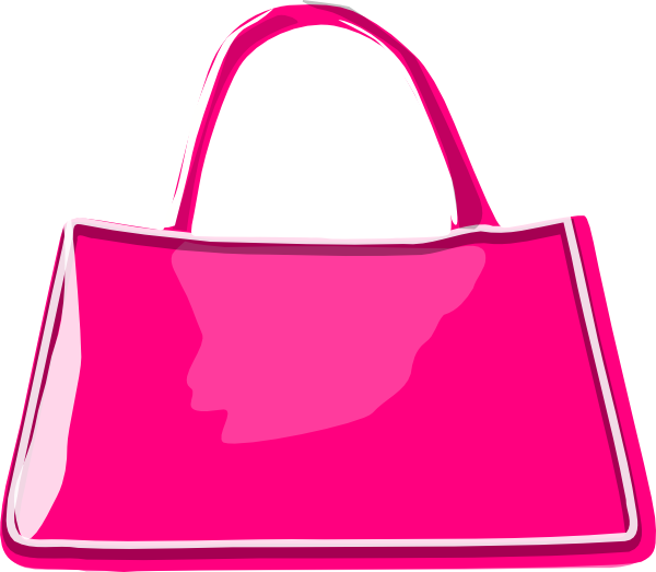graphic black and white stock Pink Change Purse Clipart