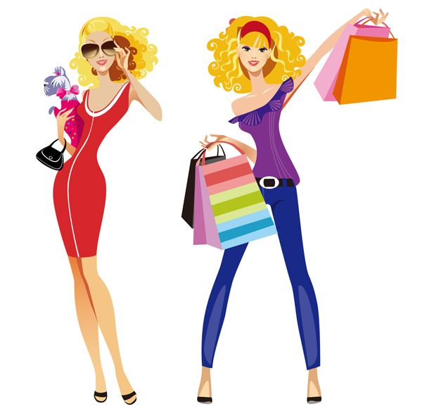 vector transparent stock At getdrawings com free. Barbie clipart shopping.