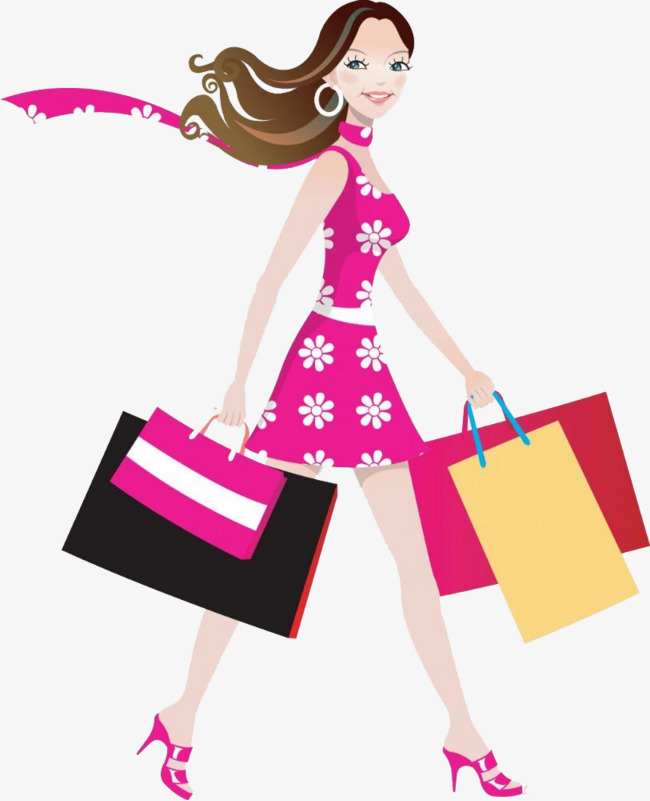 svg free stock Girl wearing a skirt. Barbie clipart shopping.