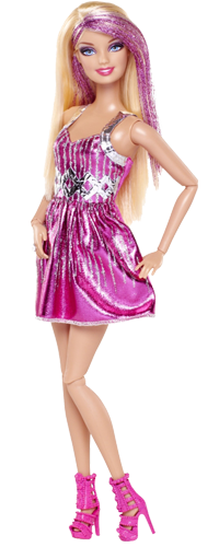 clip free stock Barbie doll transparent background
