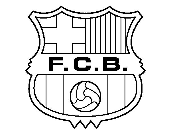 svg Barcelona drawing. Dibujo de un escudo