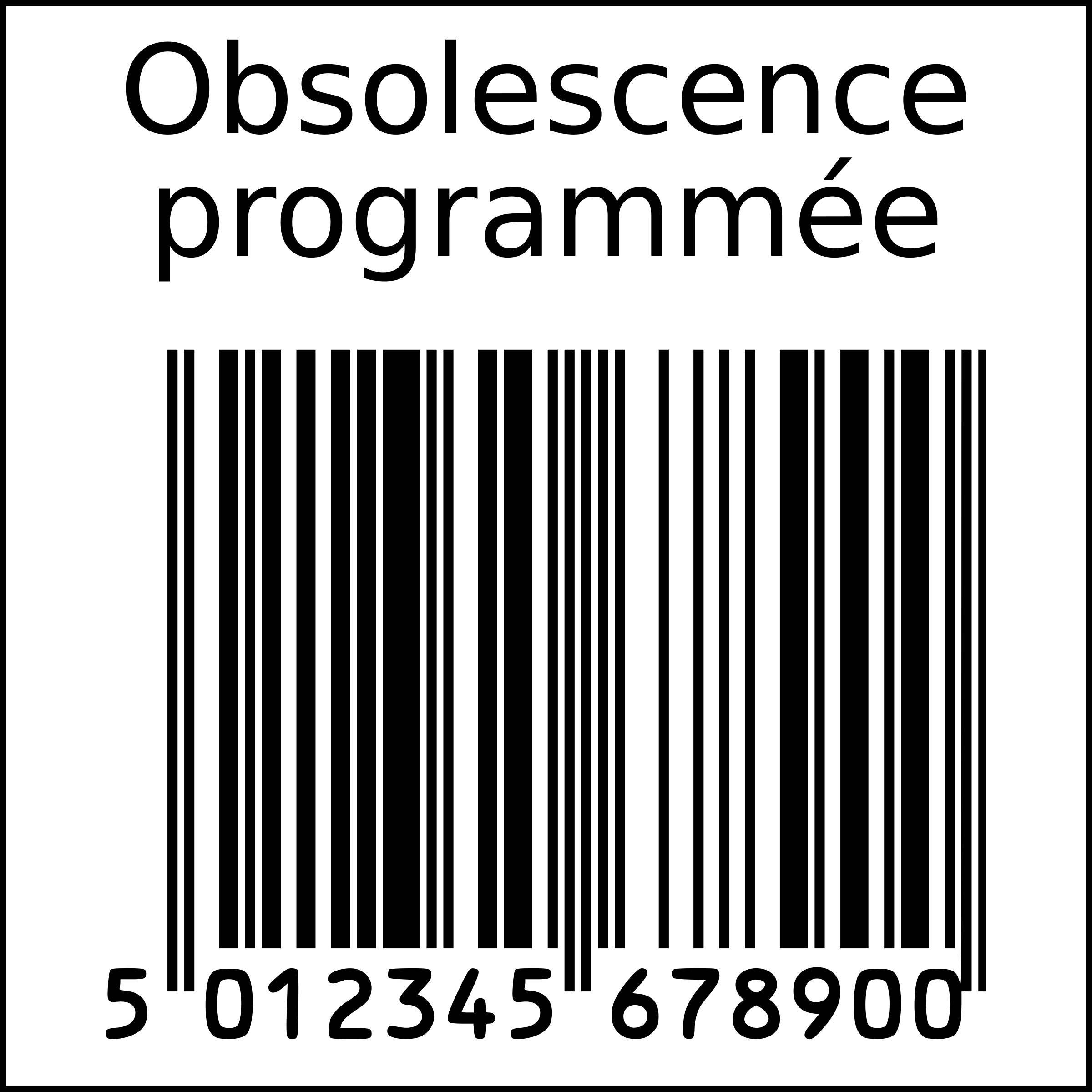 svg free stock Planned obsolescence in squarre. Barcode clipart