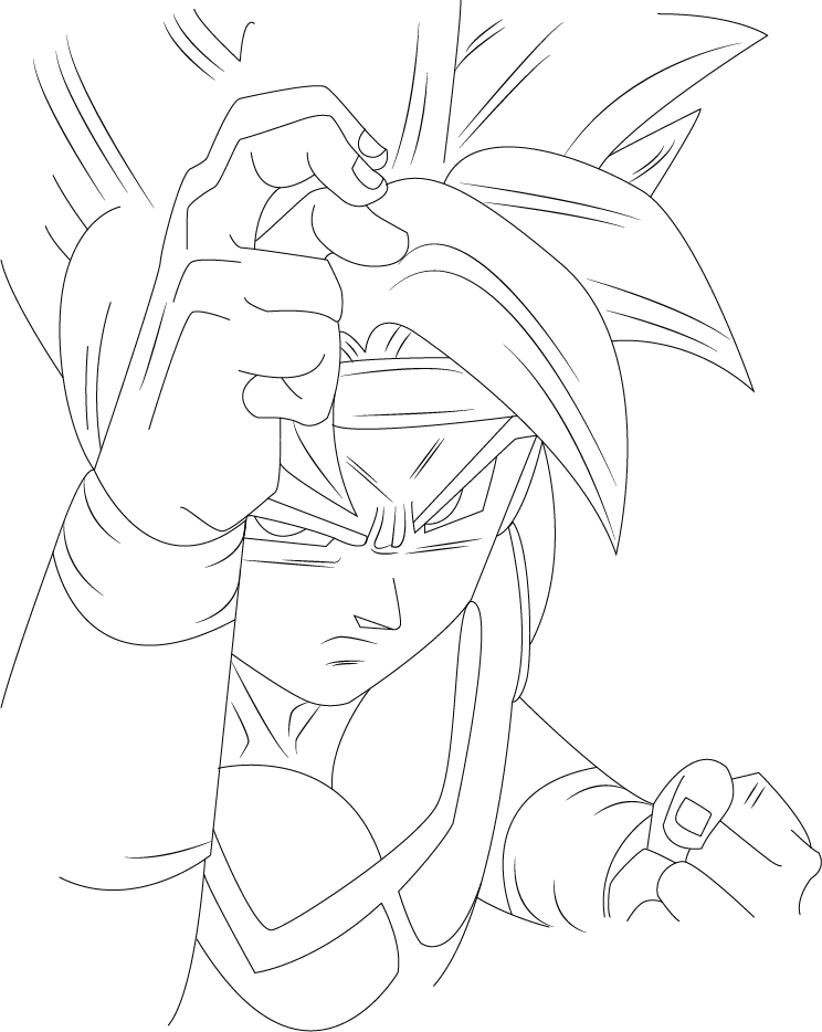 clipart royalty free download bardock drawing db super #89881923