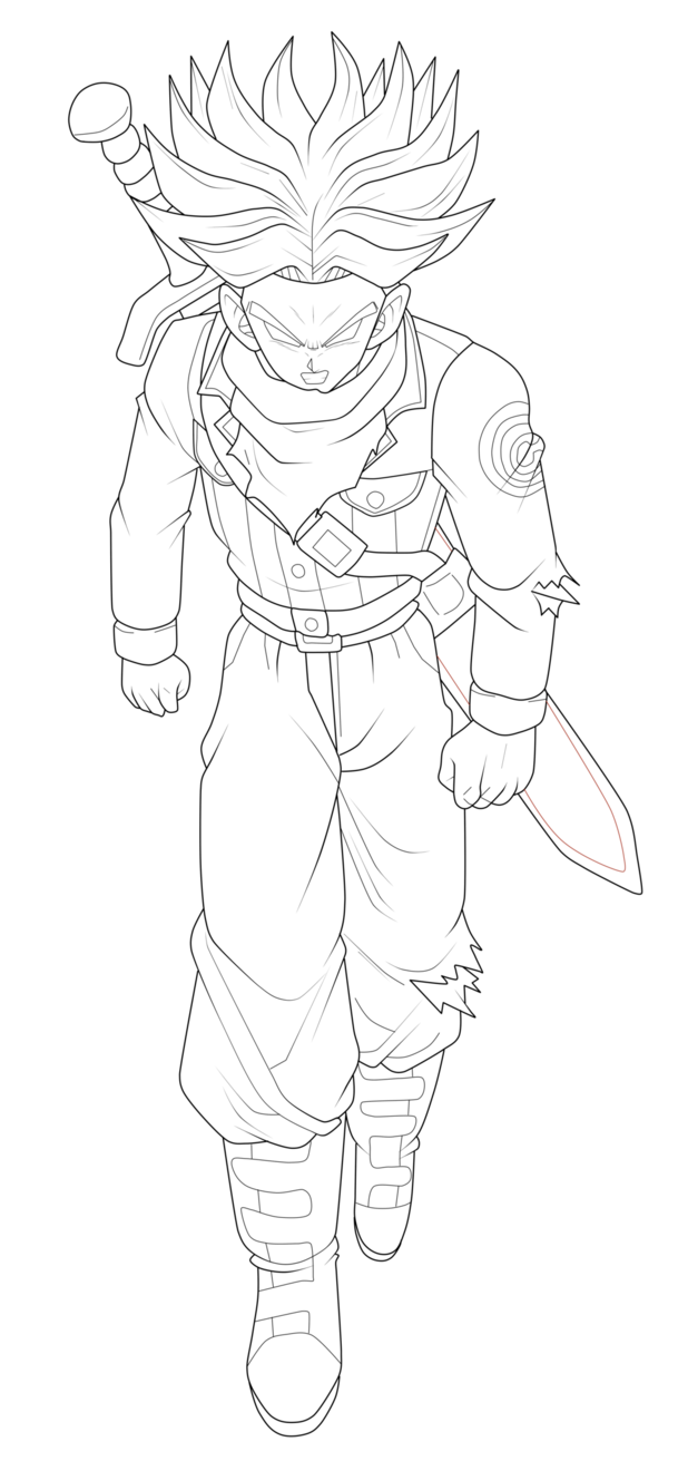 clip art freeuse library bardock drawing rage #89879586
