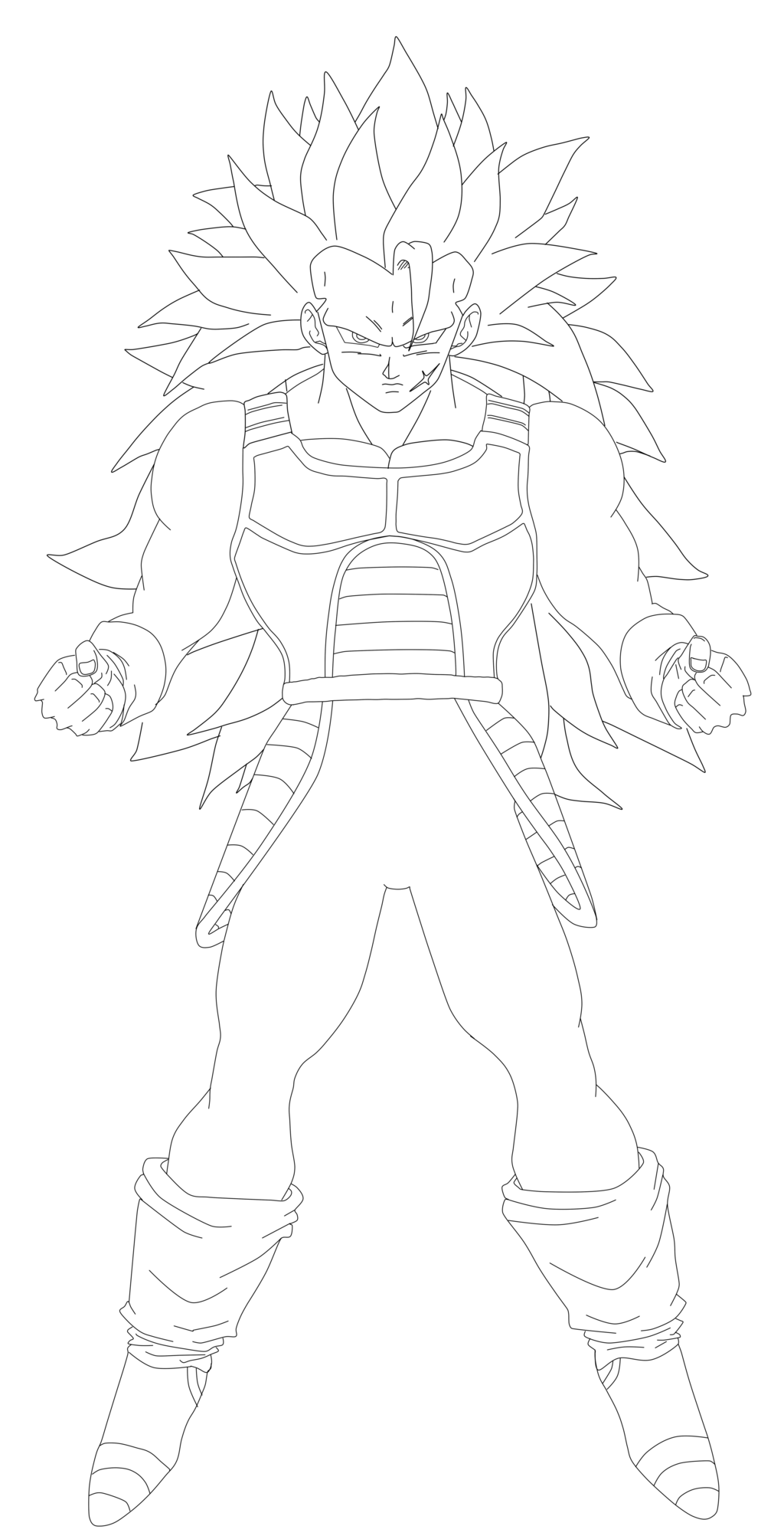 jpg black and white stock bardock drawing ssj3 #89876749