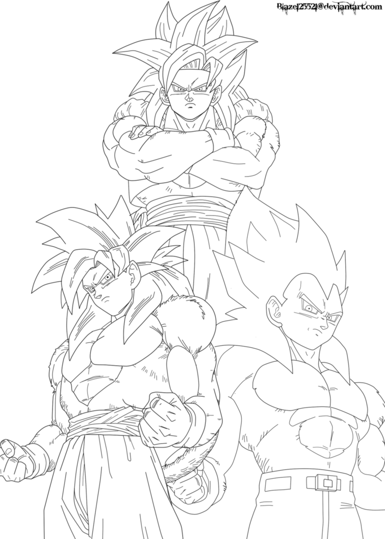clipart black and white stock Goku Super Saiyan