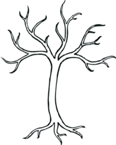 graphic black and white stock Branch clipart pile. Leafless tree drawings clip.