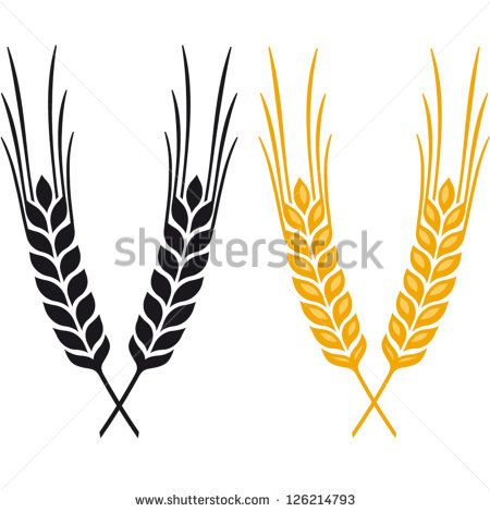 svg black and white Ears of Wheat