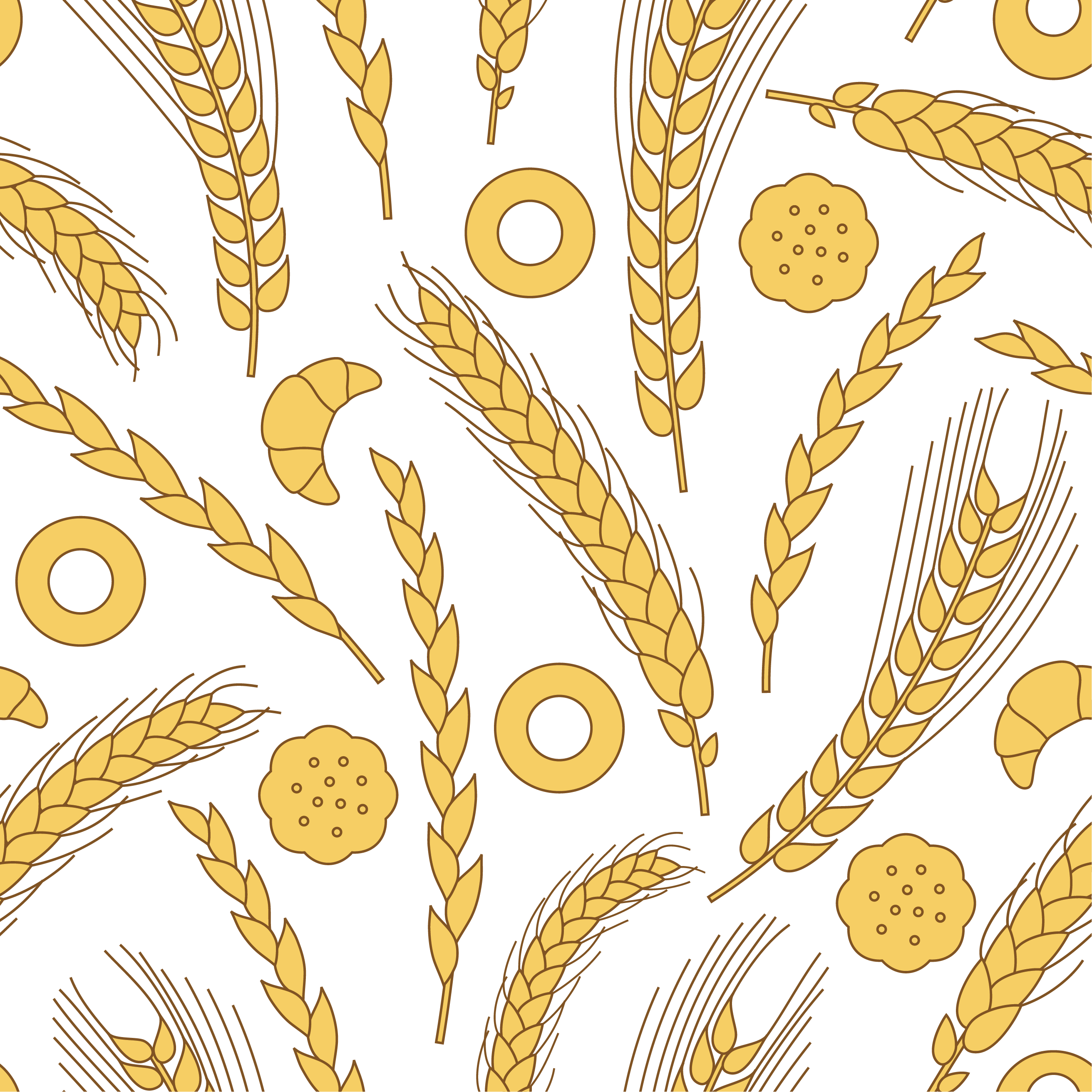 vector black and white stock Vector wheat background
