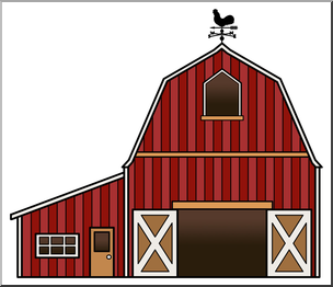 jpg black and white stock Clip art color i. Barn clipart
