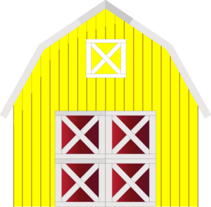 graphic royalty free library Barn clipart. Yellow clip art at.