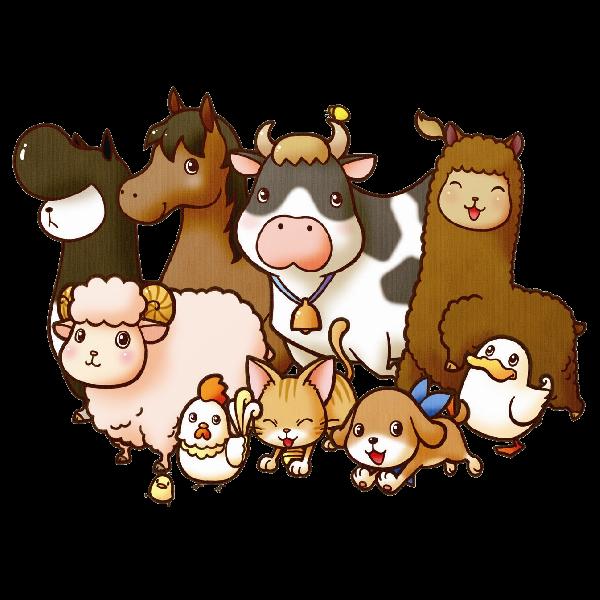transparent download Farm animal clipart. Animals free clip art