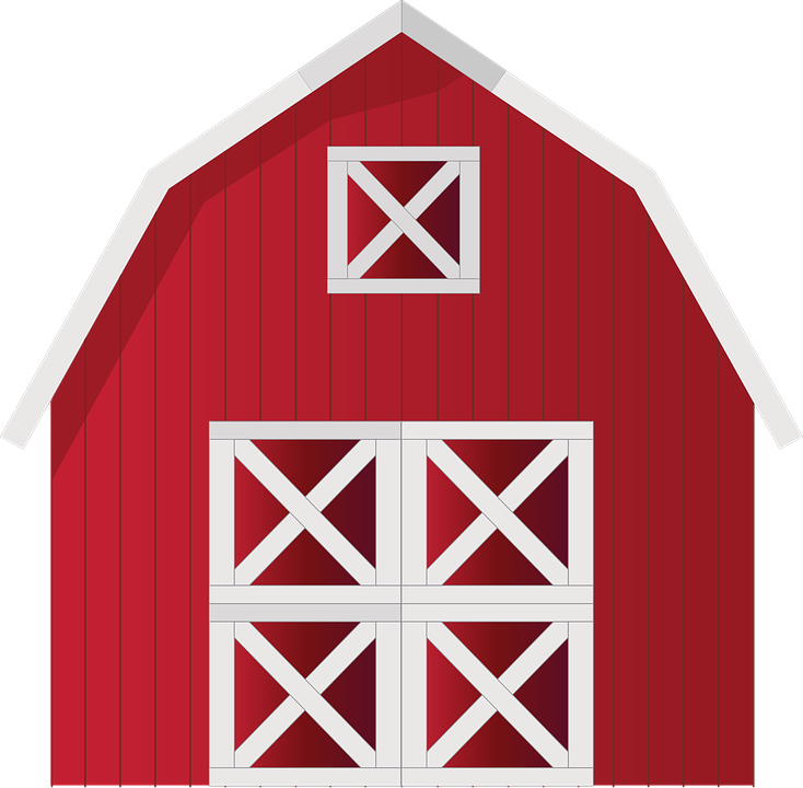 jpg black and white download Farm shed free on. Barn clipart scenery.