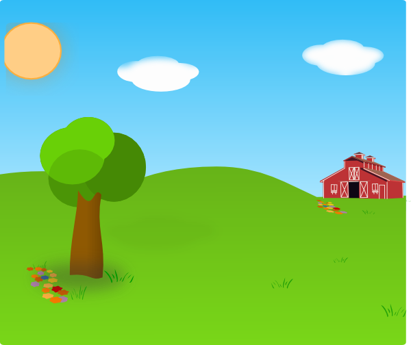image freeuse library Farm background hi png. Barn clipart scenery