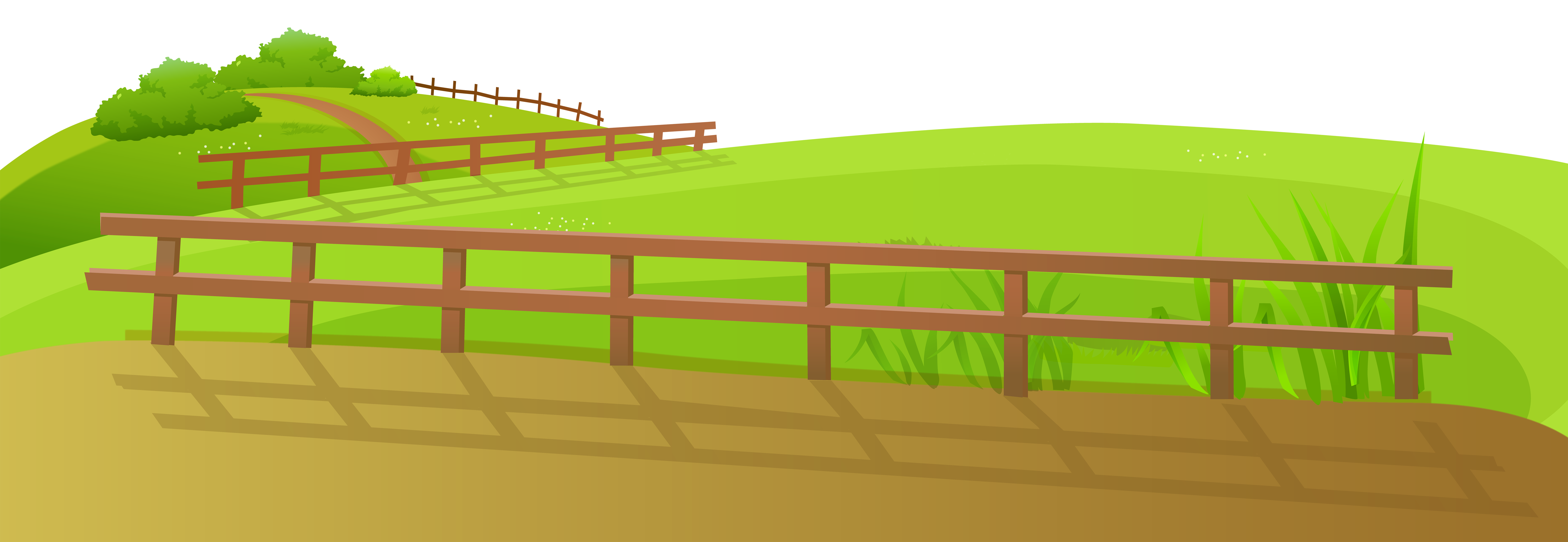 clipart freeuse download Barn clipart scenery. Grass ground with fence.