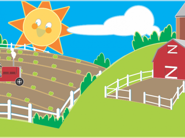 jpg transparent download Farm shed free on. Barn clipart scenery.