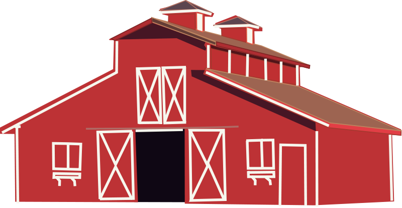 graphic black and white stock Barn clipart shape. Free red psd files.