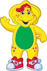 clip art freeuse download Barney drawing. And friends at getdrawings