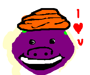 png freeuse Converts to muslim by. Barney drawing face