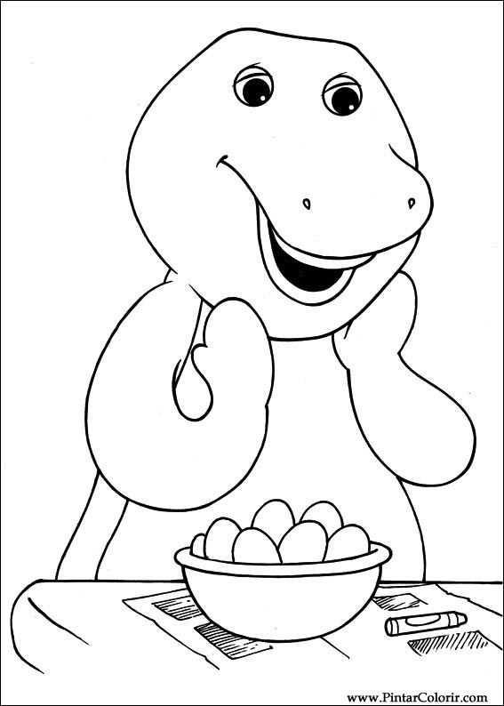 clip royalty free stock Drawings to paint colour. Barney drawing face