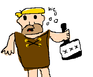 png free download Barney Rubble is drunk