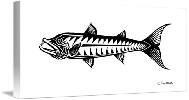 png black and white stock Great by savanna redman. Barracuda drawing