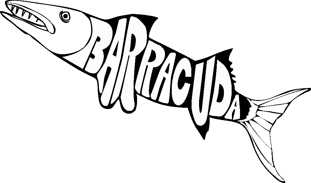 royalty free download Barracuda drawing. Images of outline spacehero