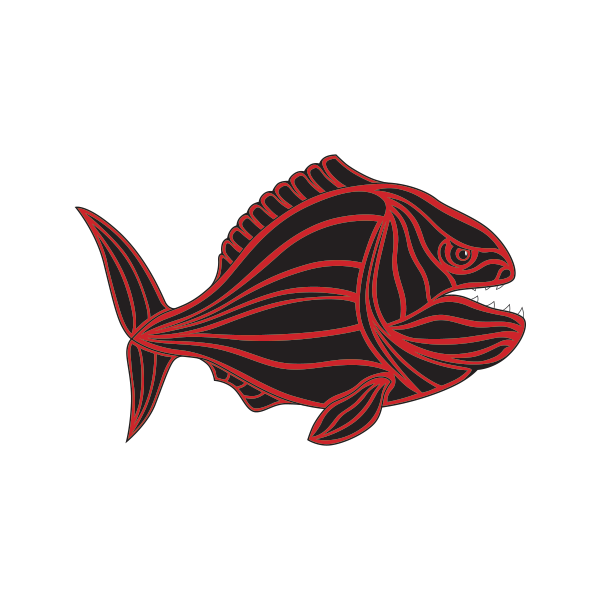 jpg royalty free Printed vinyl ocean stickers. Sailfish vector barracuda fish