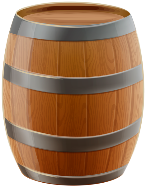 svg freeuse library Barrel clipart. Wooden png clip art.