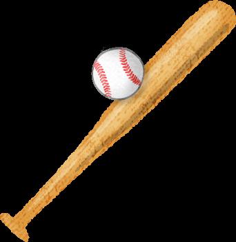 image royalty free Baseball bat and ball
