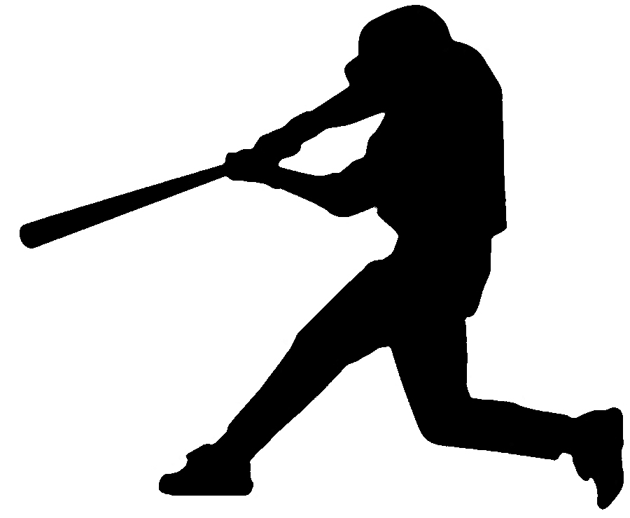 jpg freeuse download  batter clipart clipartlook. Baseball clip silhouette