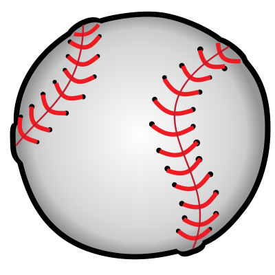 jpg black and white library Baseball Clipart
