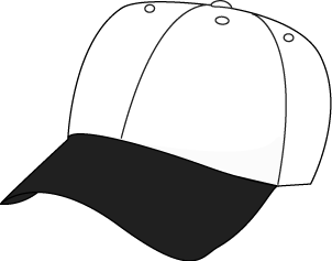 png stock Hat art. Baseball clip black and white