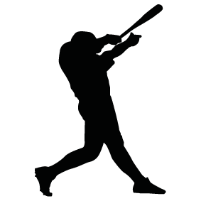graphic library download Batter silhouette art at. Baseball clip hitter