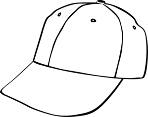 graphic free library Baseball clip outline. Cap art at clker