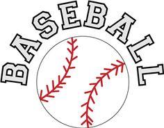 vector transparent Baseball clip word. Art digital softball clipart