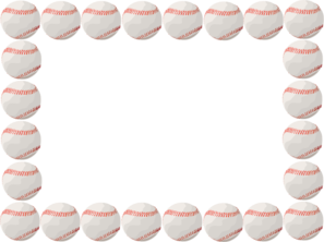 banner free Border art at clker. Baseball clip word