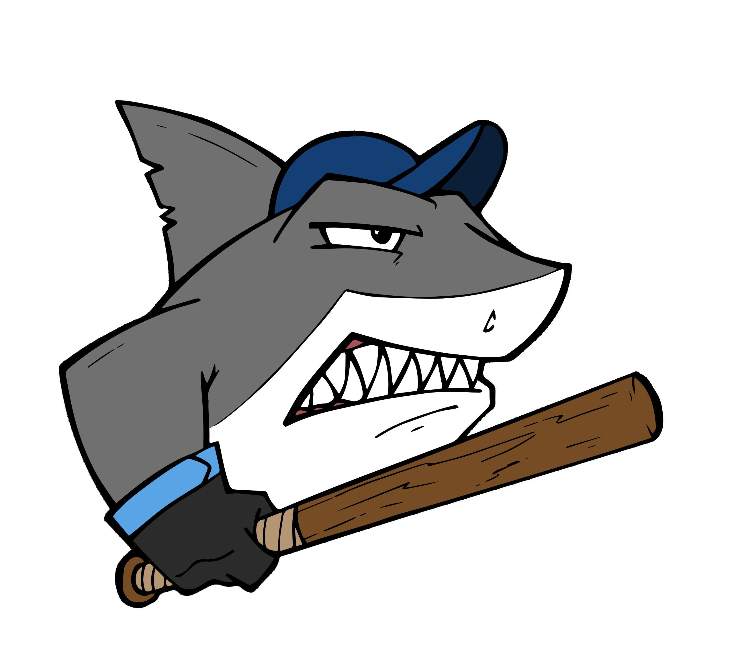 clip stock Clipart shark free on. Baseball clip fielding