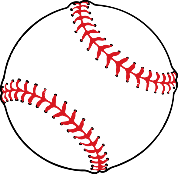 vector stock Baseball clipart clear background