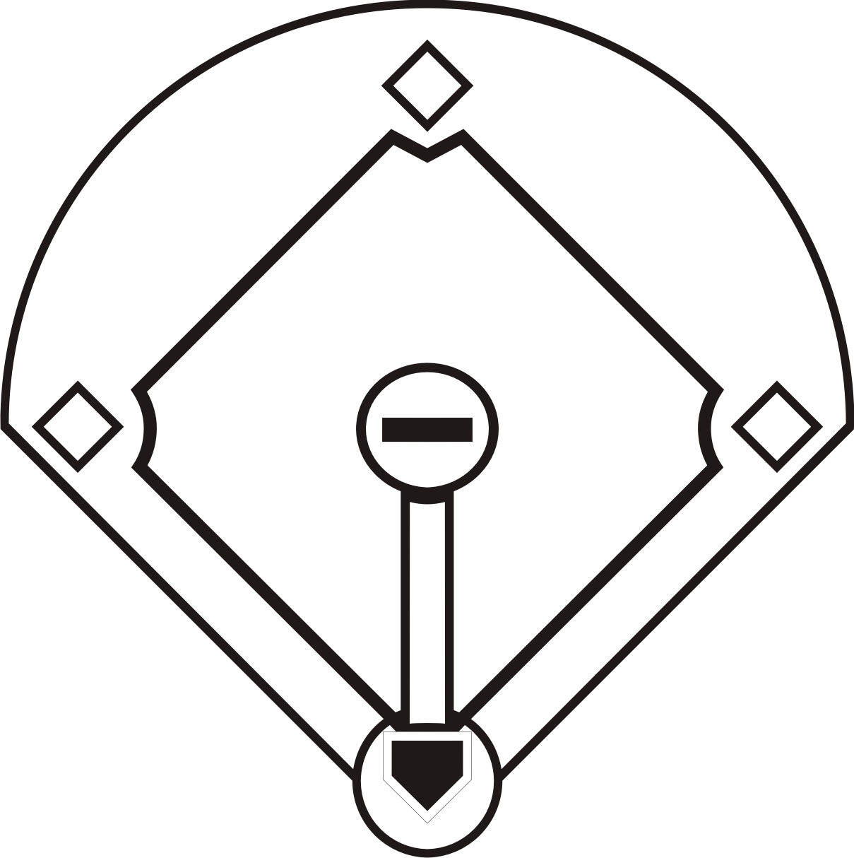 png library download Baseball diamond clipart black and white. Free download clip