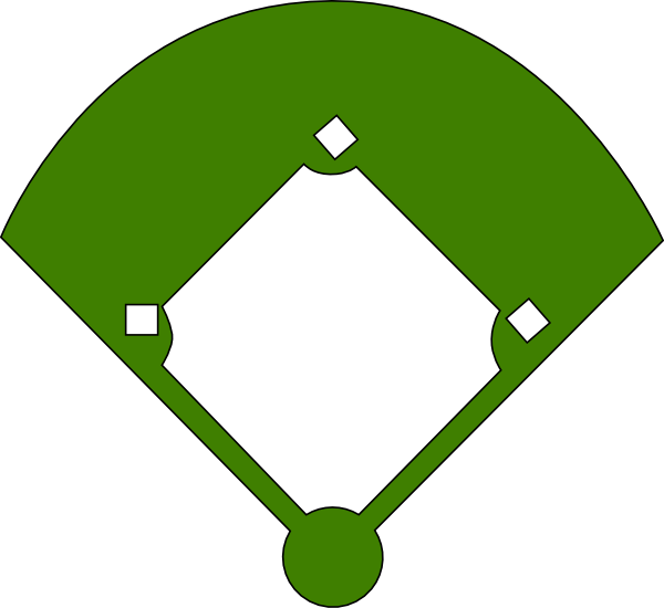 vector royalty free library Baseball Field Layout Positions Clipart