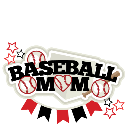 picture black and white library Baseball Mom Title SVG scrapbook cut file cute clipart files for