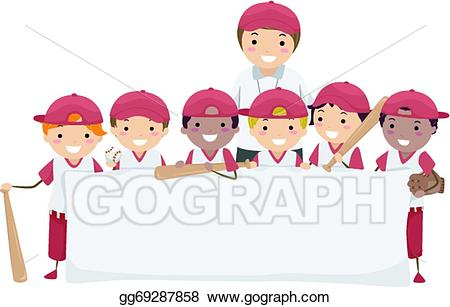 vector stock Vector art banner eps. Baseball clip team