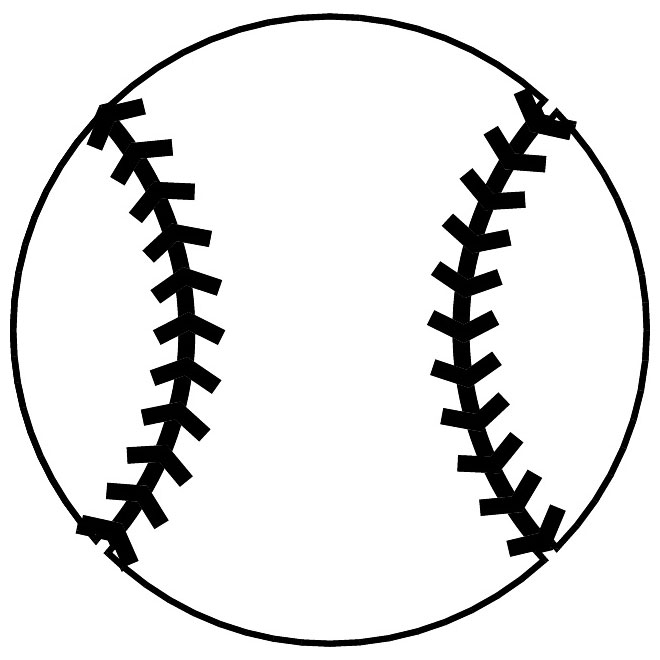 image royalty free library Baseball clip outline. Free vector download art
