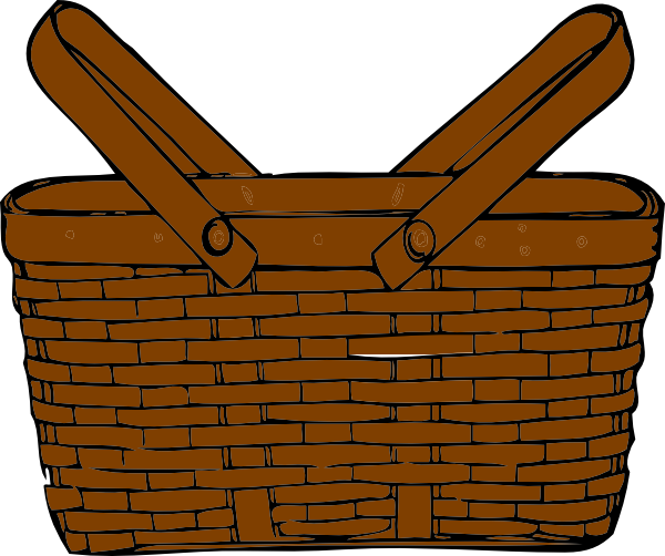 graphic royalty free library Basket clipart. Empty .