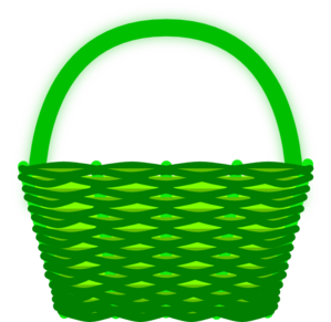 picture transparent library Green clip art at. Basket clipart.