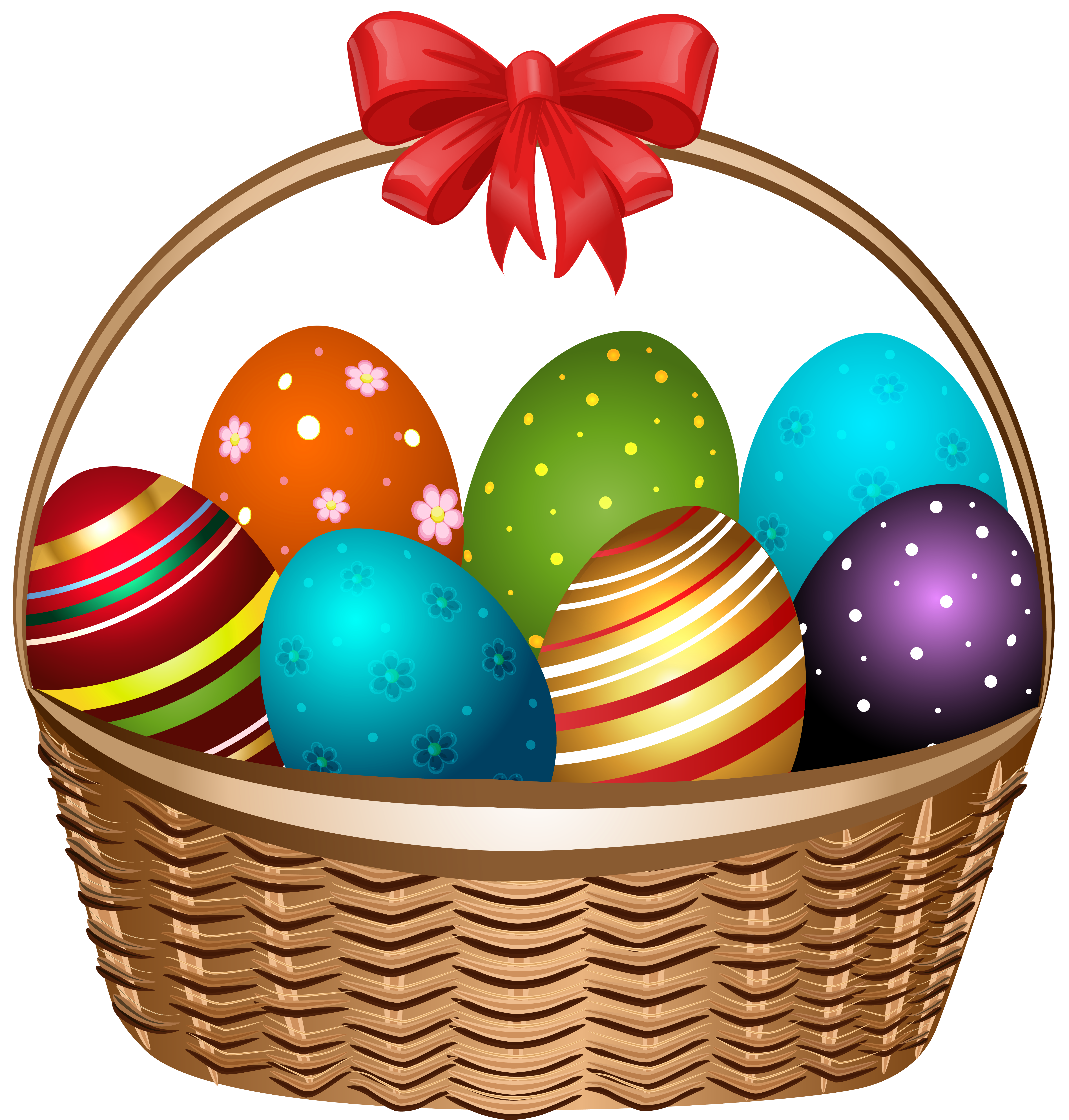 clip transparent stock Smartness design easter with. Basket clipart bow.